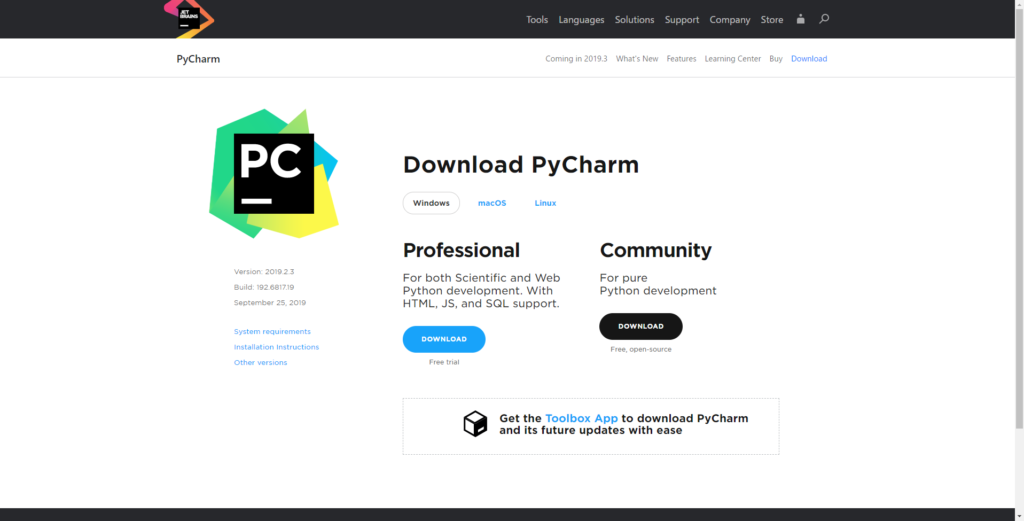Pycharm Download Community Click