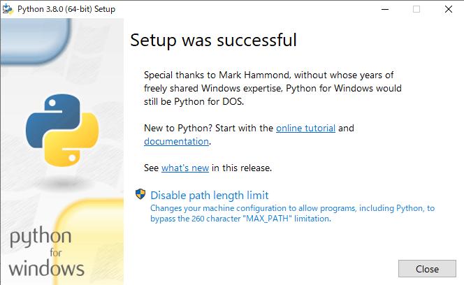 Pythonをインストール④