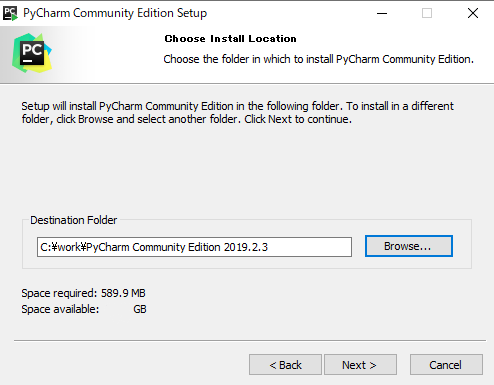Pycharm Install Select Location