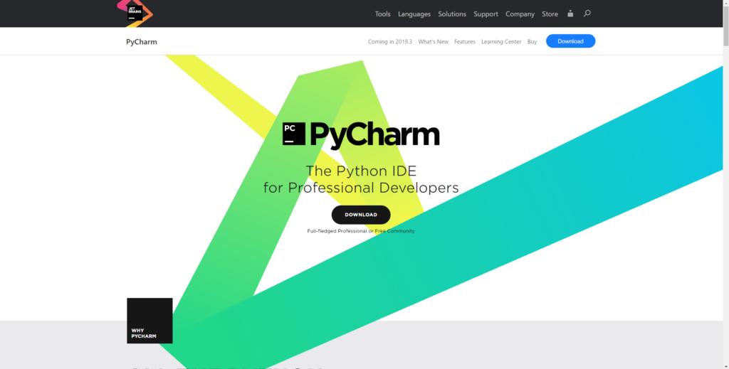 PyCharm公式トップ